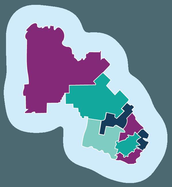 Map overview of 4Korners Laurentians