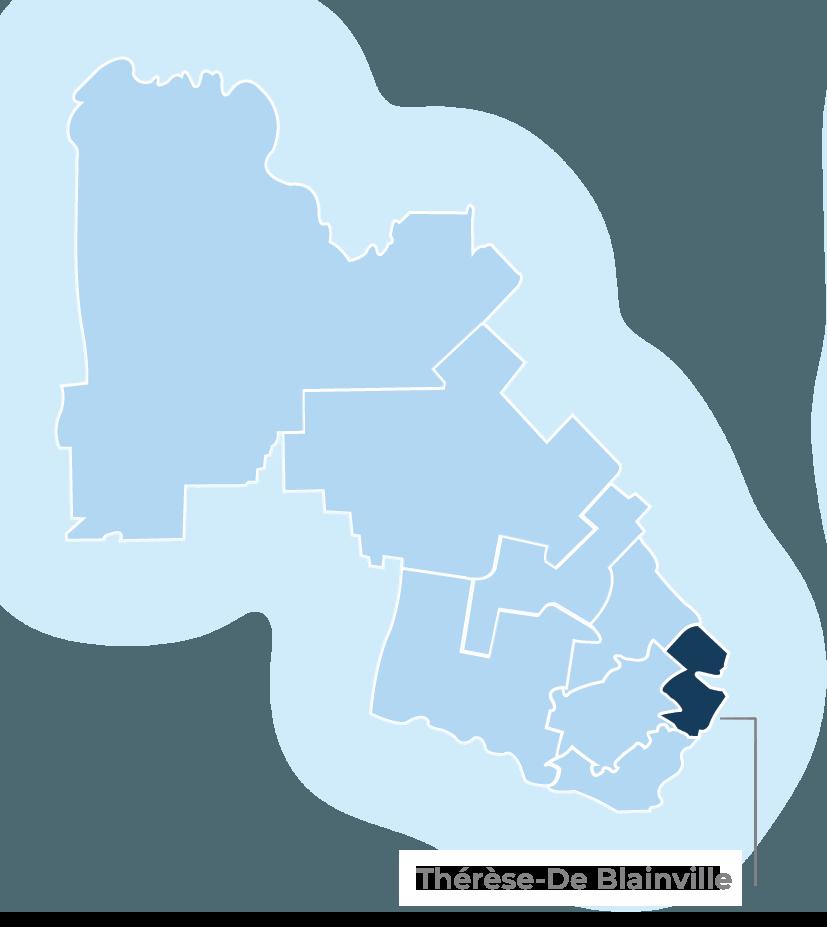 4Korners - carte régionale / Regional map Thérèse-De Blainville